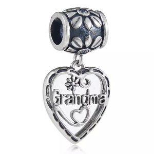 Jewelry - Sterling Silver oxidized Grandma Charm 45cm chain